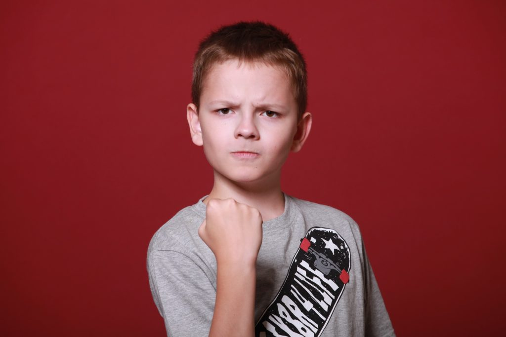 Children with 'anger issues,' or demanding child behavior, need a firm but gentle approach.